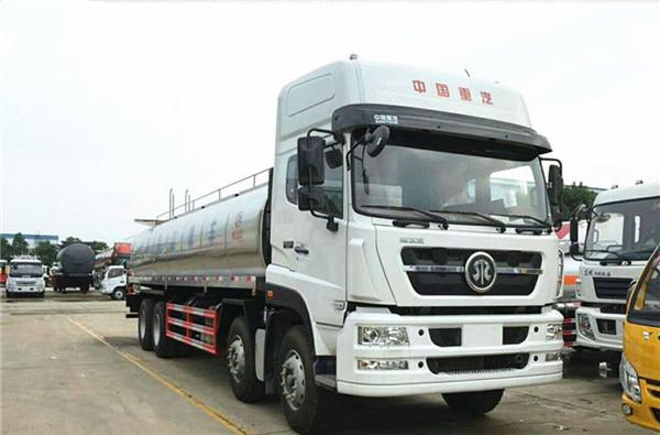 22立方重汽斯太尔鲜奶运输车